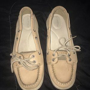 Women's Tan Sperry Boat Shoes